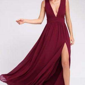 Heavenly Hues Burgundy Maxi Dress